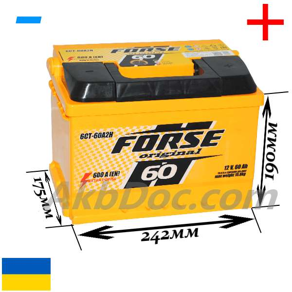 Forse 60 Aч 600А  (-/+)