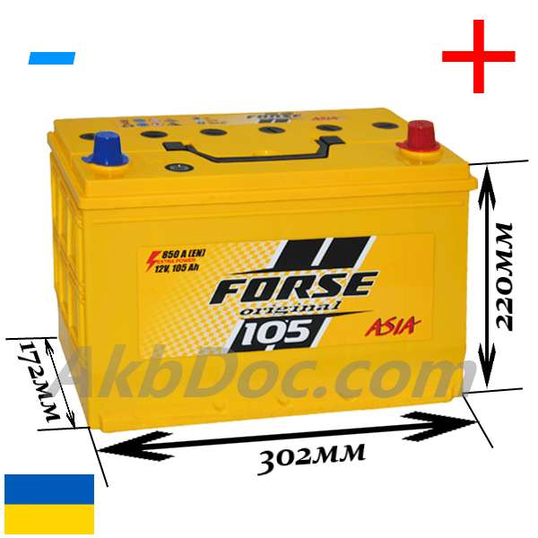 Forse 105 Aч 850A JP (-/+)