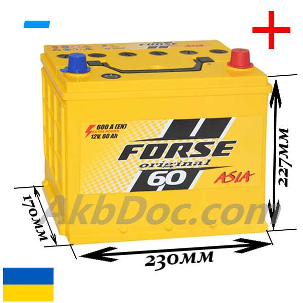Forse 60 Aч 600A JP  (-/+)