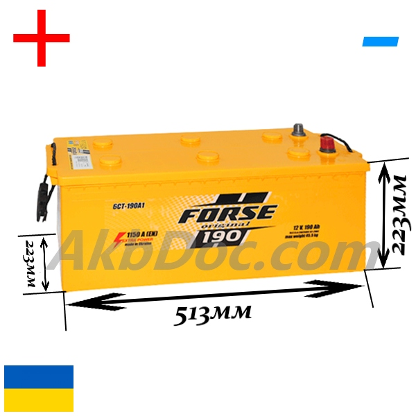 Forse 190Ач 1150A (+/-)