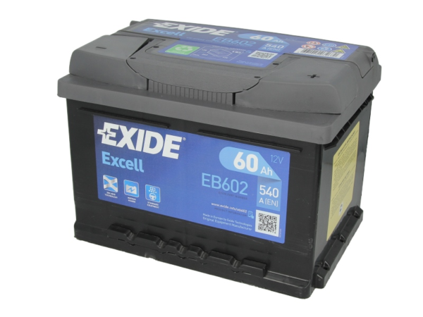 Exide 60 Ач 540А EXCELL / EB602 (-/+)