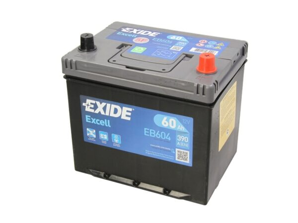 Exide 60 Ач 480А EXCELL / EB604 (-/+)