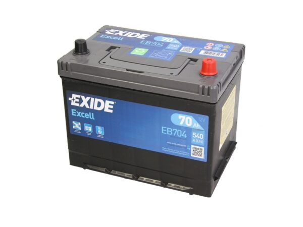 Exide 70 Ач 540А EXCELL / EB704 (-/+)