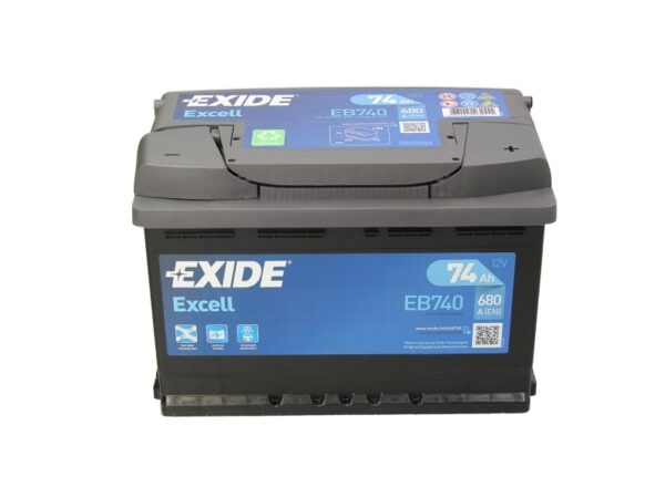 Exide 74 Ач 680А EXCELL / EB740 (-/+)